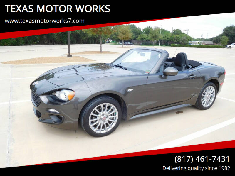 2017 FIAT 124 Spider for sale at TEXAS MOTOR WORKS in Arlington TX