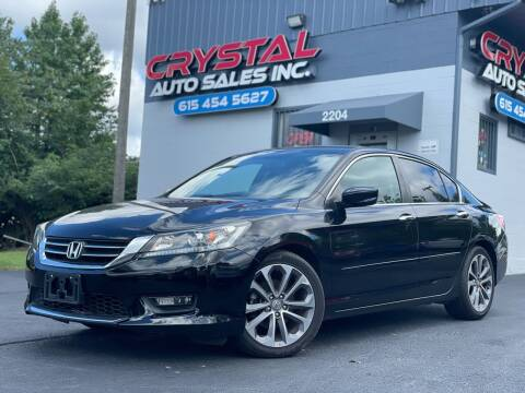 2014 Honda Accord for sale at Crystal Auto Sales Inc in Nashville TN