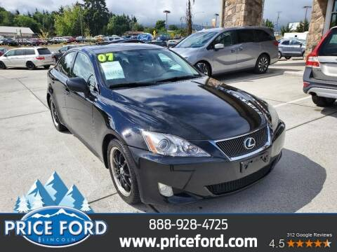 2007 Lexus IS 250 for sale at Price Ford Lincoln in Port Angeles WA