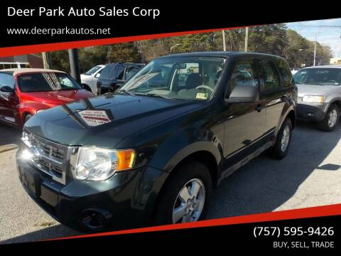 2009 Ford Escape for sale at Deer Park Auto Sales Corp in Newport News VA