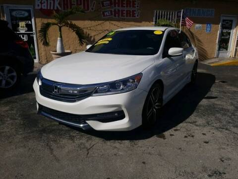 2016 Honda Accord for sale at VALDO AUTO SALES in Miami FL