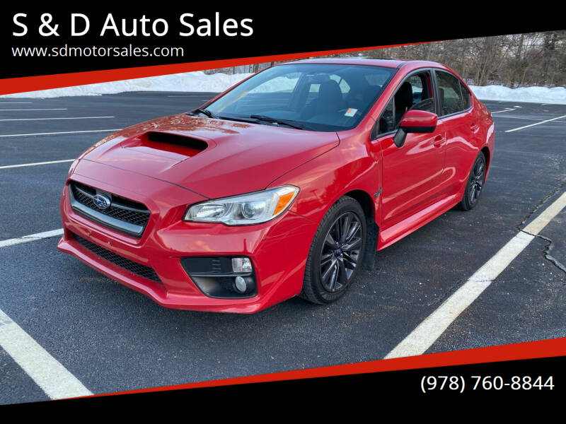 2015 Subaru WRX for sale at S & D Auto Sales in Maynard MA
