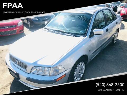 2001 Volvo S40 for sale at FPAA in Fredericksburg VA