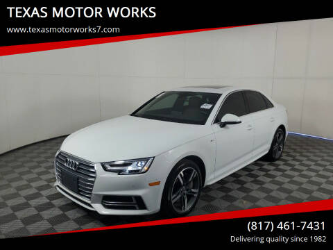 2018 Audi A4 for sale at TEXAS MOTOR WORKS in Arlington TX