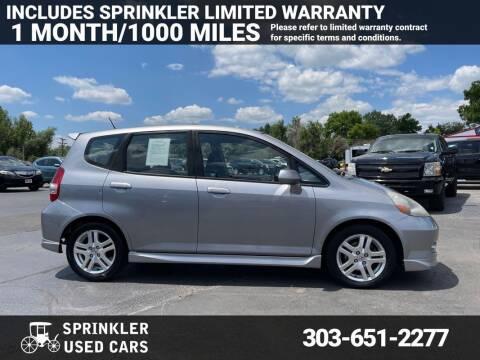 2007 Honda Fit for sale at Sprinkler Used Cars in Longmont CO