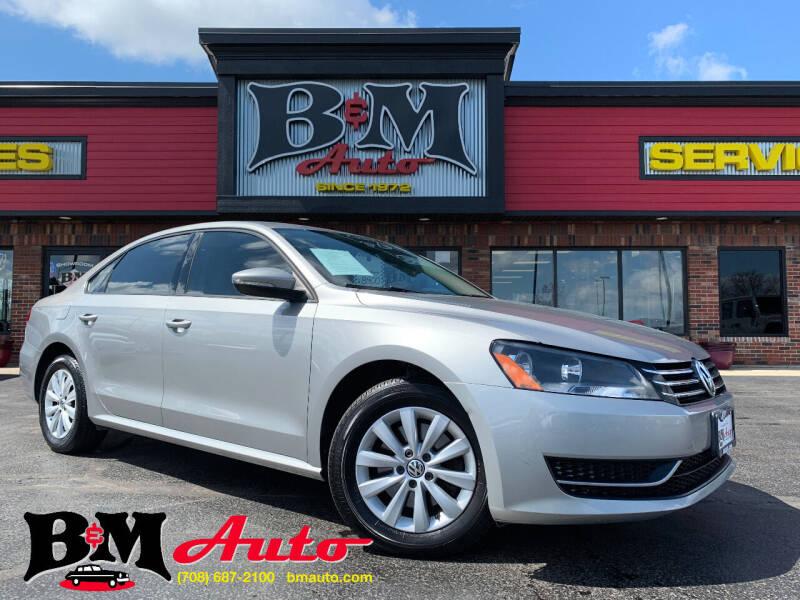 2012 Volkswagen Passat for sale at B & M Auto Sales Inc. in Oak Forest IL
