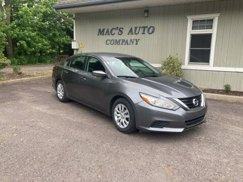 2017 Nissan Altima for sale at MAC'S AUTO COMPANY in Nanticoke PA