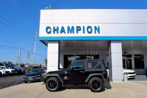 2015 Jeep Wrangler for sale at Champion Chevrolet in Athens AL