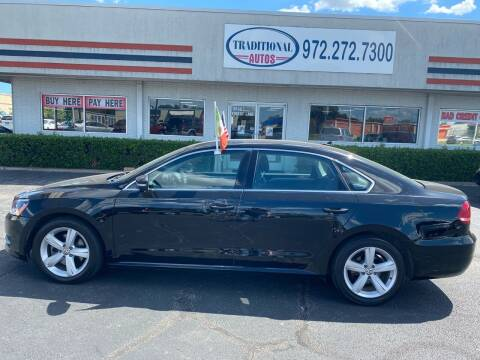 2015 Volkswagen Passat for sale at Traditional Autos in Dallas TX