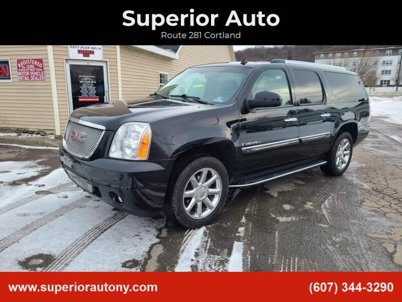 2008 GMC Yukon XL for sale at Superior Auto in Cortland NY