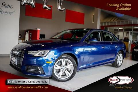 2018 Audi A4 for sale at Quality Auto Center in Springfield NJ