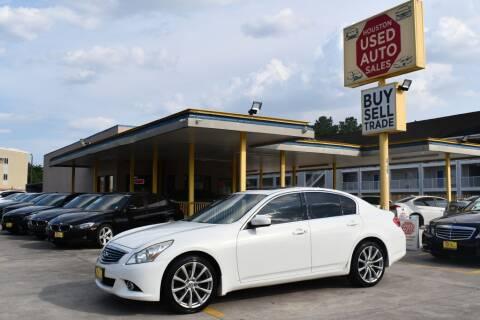 2011 Infiniti G37 Sedan for sale at Houston Used Auto Sales in Houston TX