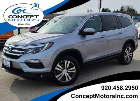 2017 Honda Pilot for sale at CONCEPT MOTORS INC in Sheboygan WI