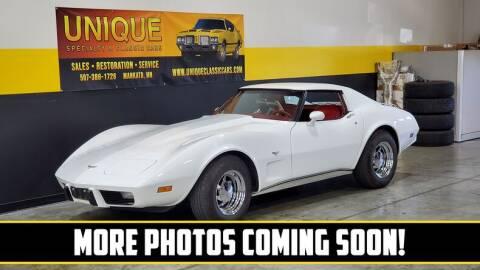1977 Chevrolet Corvette for sale at UNIQUE SPECIALTY & CLASSICS in Mankato MN