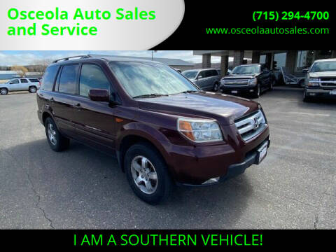 2007 Honda Pilot for sale at Osceola Auto Sales and Service in Osceola WI