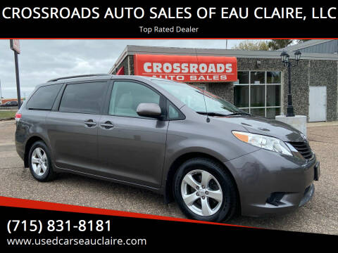 2013 Toyota Sienna for sale at CROSSROADS AUTO SALES OF EAU CLAIRE, LLC in Eau Claire WI