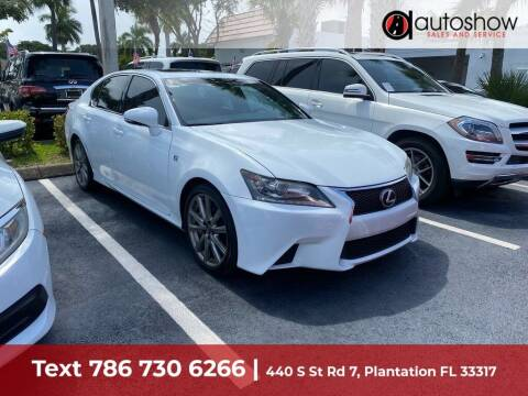 2015 Lexus GS 350 for sale at AUTOSHOW SALES & SERVICE in Plantation FL