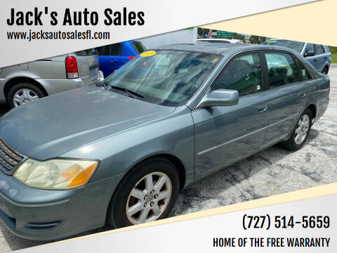2003 Toyota Avalon for sale at Jack's Auto Sales in Port Richey FL
