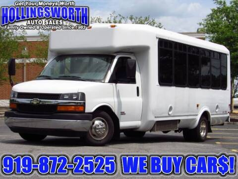 2012 Chevrolet 4500 Passenger Van for sale at Hollingsworth Auto Sales in Raleigh NC