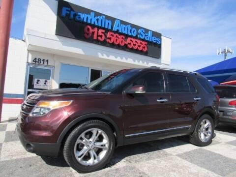 2012 Ford Explorer for sale at Franklin Auto Sales in El Paso TX