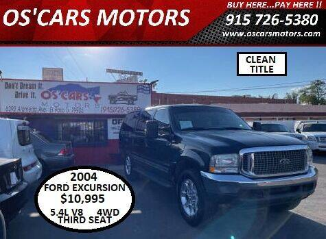 2004 Ford Excursion for sale at Os'Cars Motors in El Paso TX