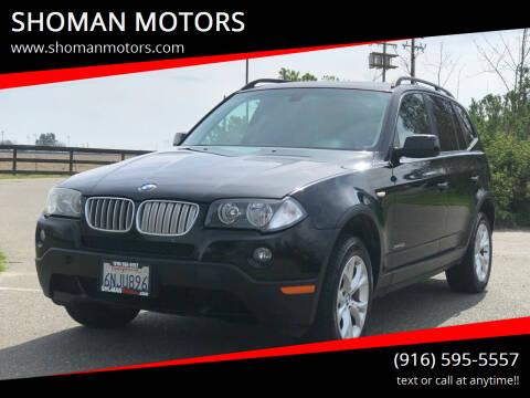 2009 BMW X3 for sale at SHOMAN MOTORS in Davis CA