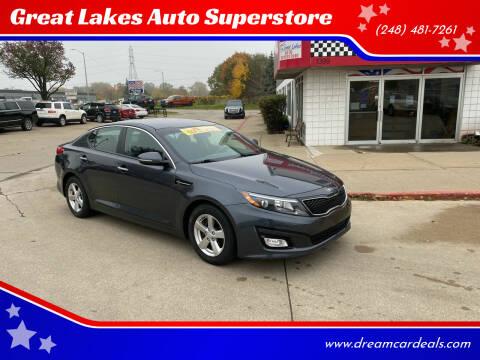 2015 Kia Optima for sale at Great Lakes Auto Superstore in Pontiac MI