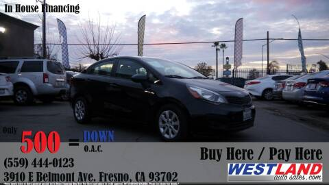 2013 Kia Rio for sale at Westland Auto Sales in Fresno CA