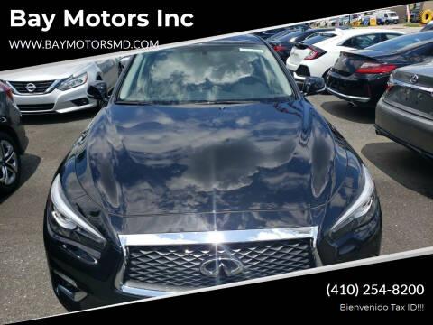 2018 Infiniti Q50 for sale at Bay Motors Inc in Baltimore MD