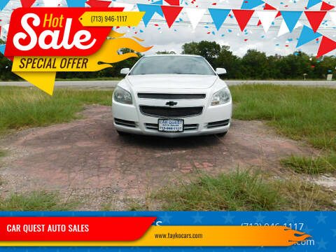 2012 Chevrolet Malibu for sale at CAR QUEST AUTO SALES in Houston TX