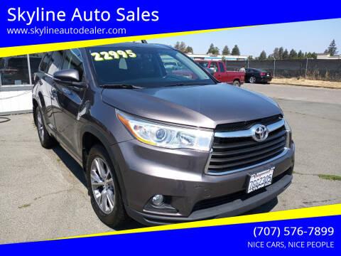 2014 Toyota Highlander for sale at Skyline Auto Sales in Santa Rosa CA