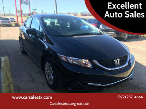 2014 Honda Civic for sale at Excellent Auto Sales in Grand Prairie TX