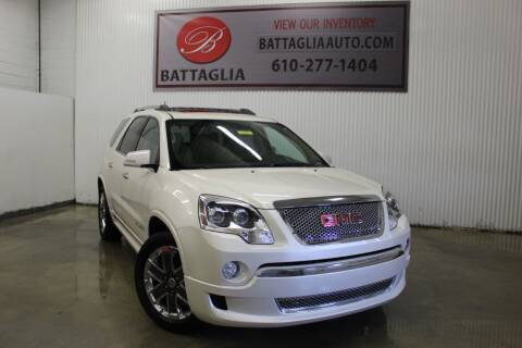 2012 GMC Acadia for sale at Battaglia Auto Sales in Plymouth Meeting PA