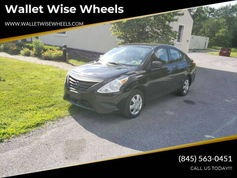 2015 Nissan Versa for sale at Wallet Wise Wheels in Montgomery NY