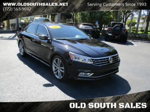 2018 Volkswagen Passat for sale at OLD SOUTH SALES in Vero Beach FL