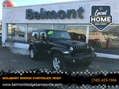 2020 Jeep Wrangler for sale at BELMONT DODGE CHRYSLER JEEP RAM in Barnesville OH