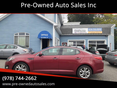 2011 Kia Optima for sale at Pre-Owned Auto Sales Inc in Salem MA