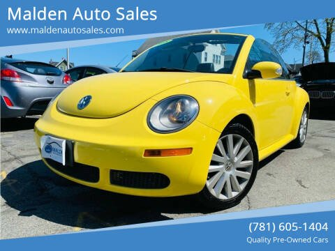 2008 Volkswagen New Beetle Convertible for sale at Malden Auto Sales in Malden MA