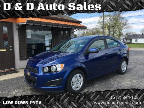 2014 Chevrolet Sonic for sale at D & D Auto Sales in Hamilton OH