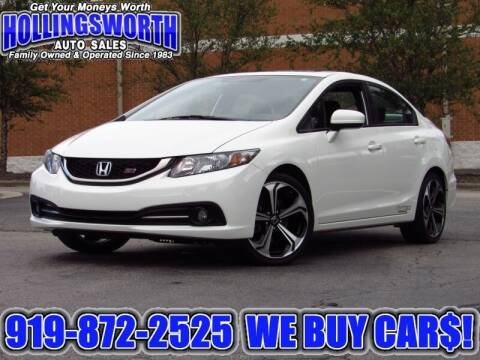 2014 Honda Civic for sale at Hollingsworth Auto Sales in Raleigh NC