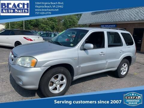 2006 Mazda Tribute for sale at Beach Auto Sales in Virginia Beach VA