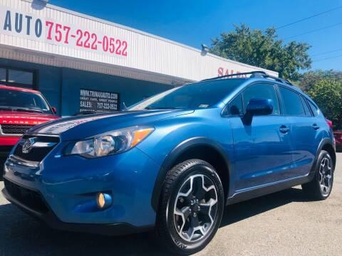 2014 Subaru XV Crosstrek for sale at Trimax Auto Group in Norfolk VA