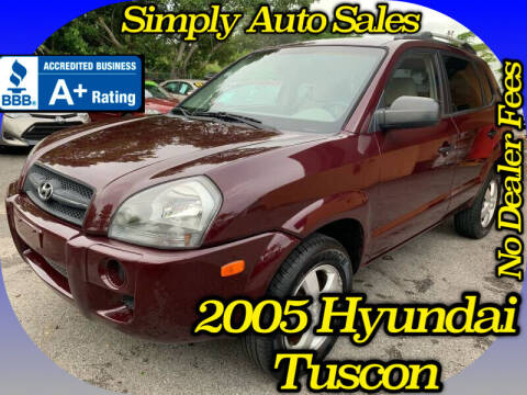 2005 Hyundai Tucson for sale at Simply Auto Sales in Palm Beach Gardens FL