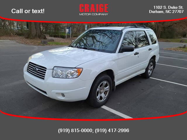 2007 Subaru Forester for sale at CRAIGE MOTOR CO in Durham NC