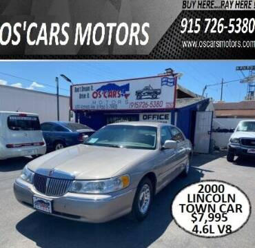 2000 Lincoln Town Car for sale at Os'Cars Motors in El Paso TX