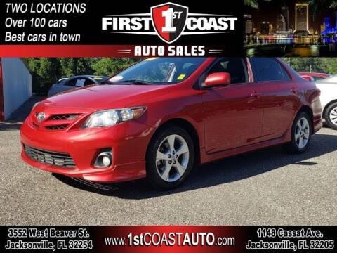 2013 Toyota Corolla for sale at 1st Coast Auto -Cassat Avenue in Jacksonville FL