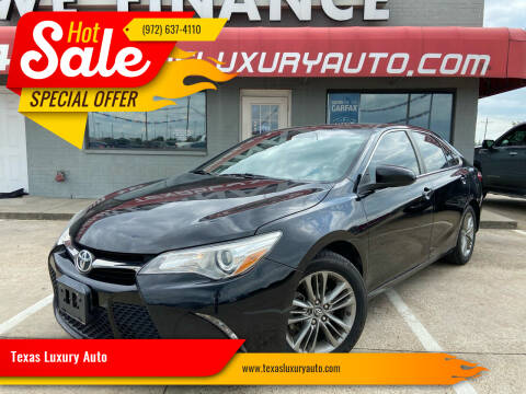 2016 Toyota Camry for sale at Texas Luxury Auto in Cedar Hill TX