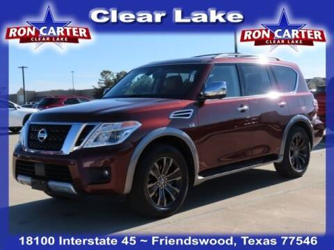 2017 Nissan Armada for sale at Ron Carter  Clear Lake Used Cars in Houston TX