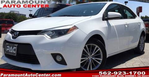 2014 Toyota Corolla for sale at PARAMOUNT AUTO CENTER in Downey CA