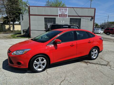 2013 Ford Focus for sale at Richland Motors in Cleveland OH
